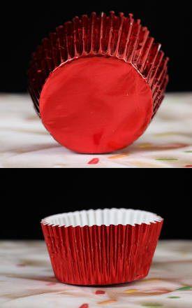 Foil Baking Cups Red CaljavaOnline