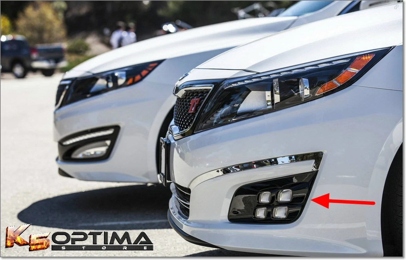 hight resolution of k5 optima store 2014 2015 kia optima dual colored quad led fog lights kia fog lights wiring diagram