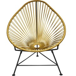Innit Acapulco Chair Double Papasan Ikea Designs Black Base Sportique Gold