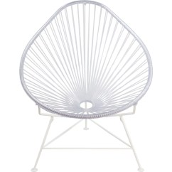 Innit Acapulco Chair Seated Massage Designs White Base Sportique Clear