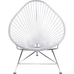 Innit Acapulco Chair Purple Bows Designs Chrome Base Sportique