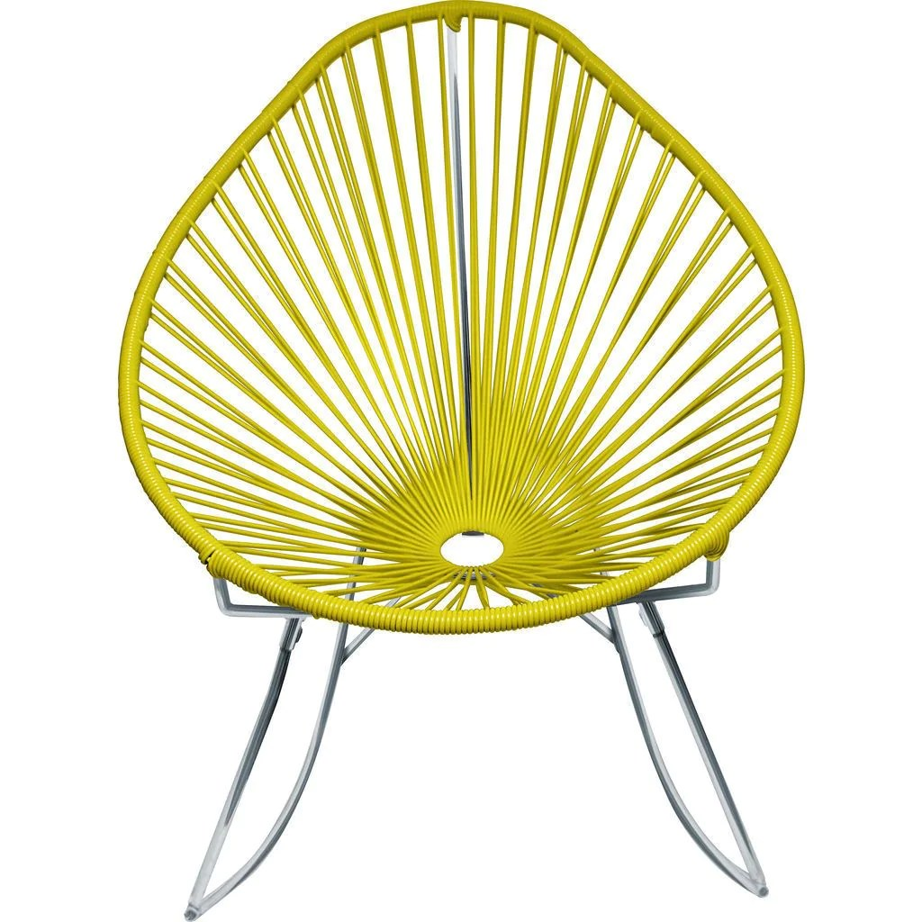 ab rocker chair ikea poang covers innit designs acapulco chrome base sportique yellow