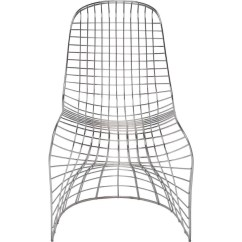 Steel Net Chair Rustic Rocking Chairs Nuevo Living Swerve Silver Stainless Metal Sportique