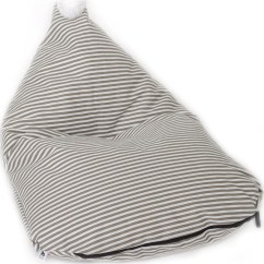 Bean Bag Chair Covers Graco Doll High Set Wild Design Lab Reeve Cover Grey White Stripes Bbcr
