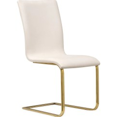White And Gold Chair For Office Use Tov Furniture Maxim Dining Set Of 2 Sportique