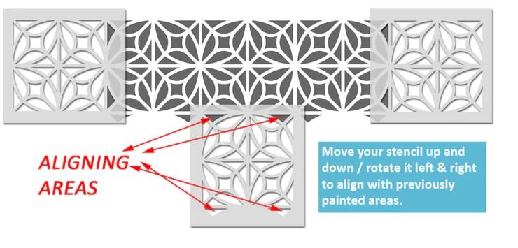 ryahna moroccan tile stencil ideal