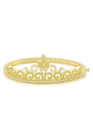 princess crown bangle bracelet