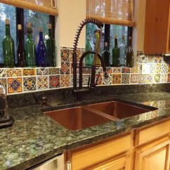 Tile Kitchen Red And Yellow Curtains Three Simple Inexpensive Ways To Remodel Using Traditional Mexican Designs Backsplash Talavera
