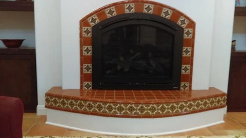 Images Pictures and ideas for Mexican Style Fireplaces  Mexican Tile Designs