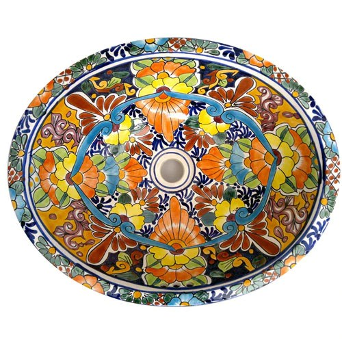 Traditional Mexican Sink Pasmoso Mexican Tile Designs