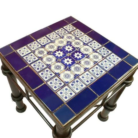 mexican tile wrought iron table estrella
