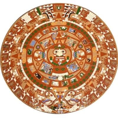 Mexican Style Mural Calendario Maya Mexican Tile Designs