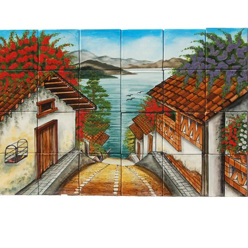 Mexican Style Mural  Michoacan  Mexican Tile Designs