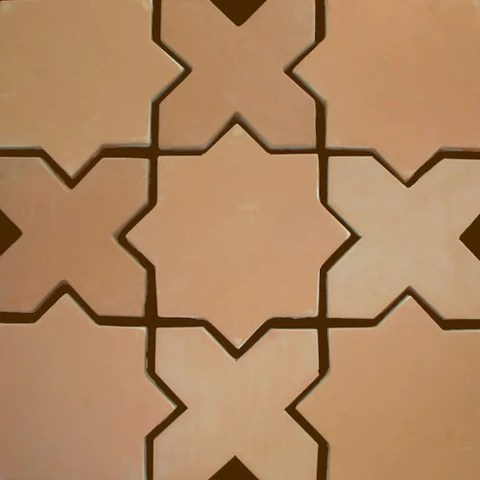 star and cross tierra art hand crafted high fired terra cota floor pavers