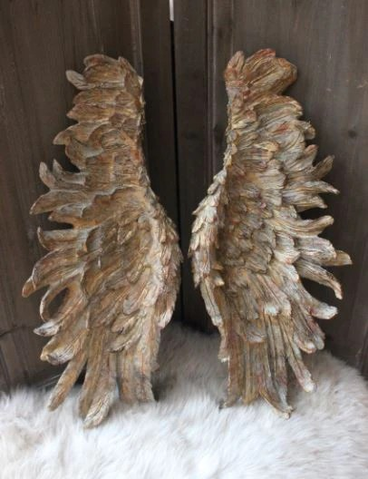 Large Decorative Angel Wings  Gold