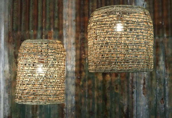 Large Rattan Lampshade  Two Sizes