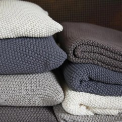 Kitchen Hand Towels Best Sink Brands Warm Cosy Moss Stitch Cotton Throw - Pewter Or Stone ...