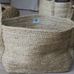 Kitchen Hand Towels Lantern Pendant Light For Small Rectangular Jute Basket - Natural Or Grey