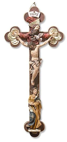 Holy Trinity Wall Cross With The Virgin Mary Beattitudes