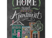 Lily & Val – Home Sweet Apartment Print - Chalkboard Art ...