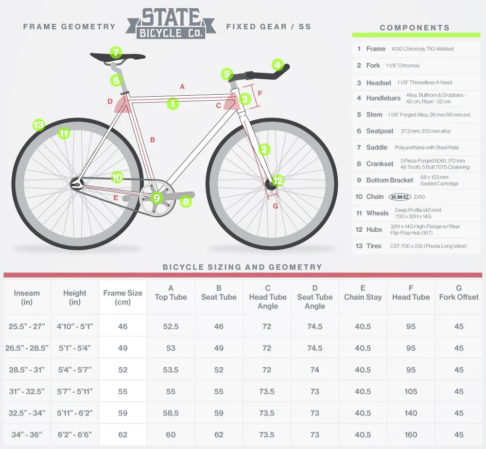 also size chart state bicycle co rh statebicycle