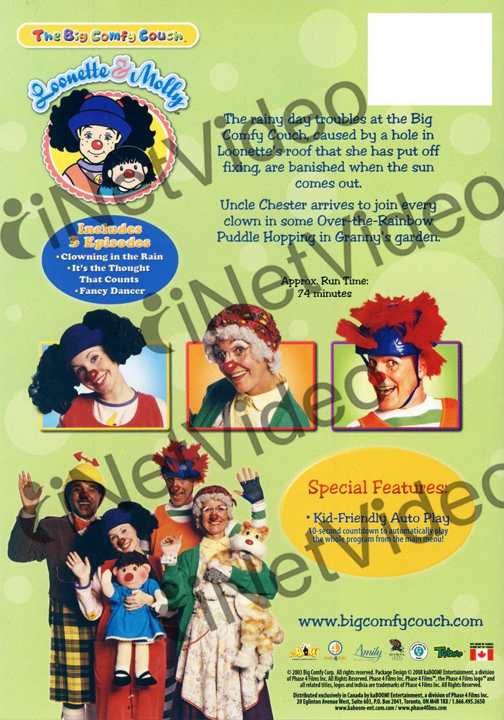 The Big Comfy Couch Clowning In The Rain On DVD Movie