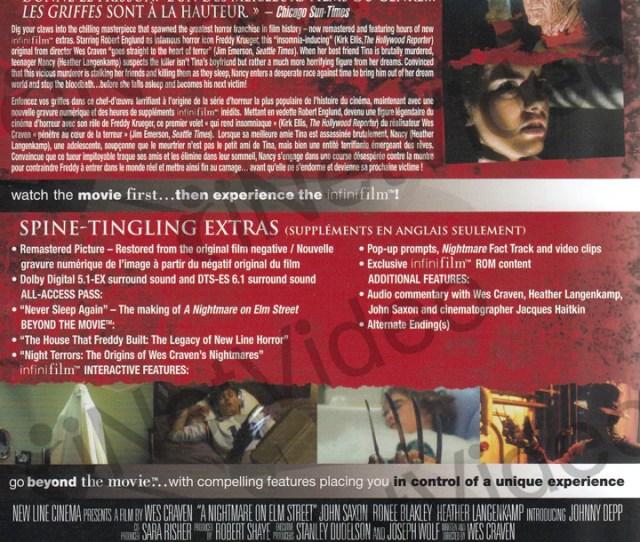 A Nightmare On Elm Street Infinifilm Edition Dvd Movie