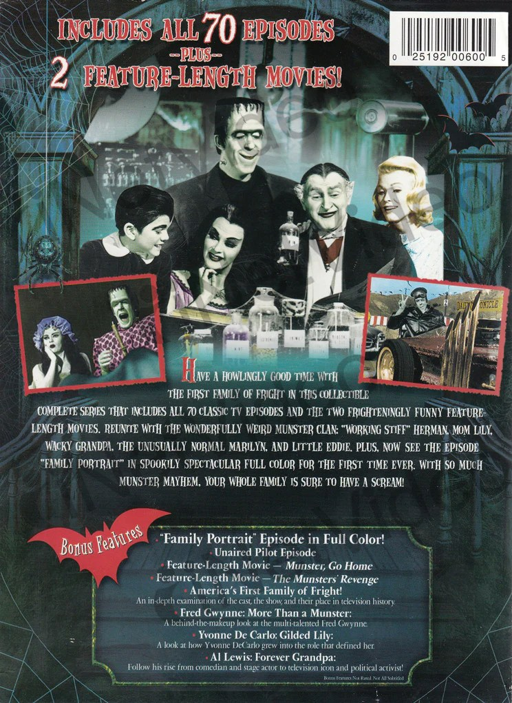 The Munsters The Complete Series Boxset on DVD Movie