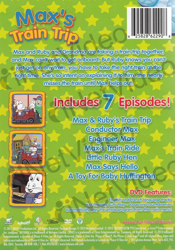 Max And Ruby Halloween Vhs
