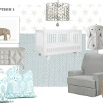 Mood Board Baby Boy Nursery Design With Nursery Chandelier Lighting Connection