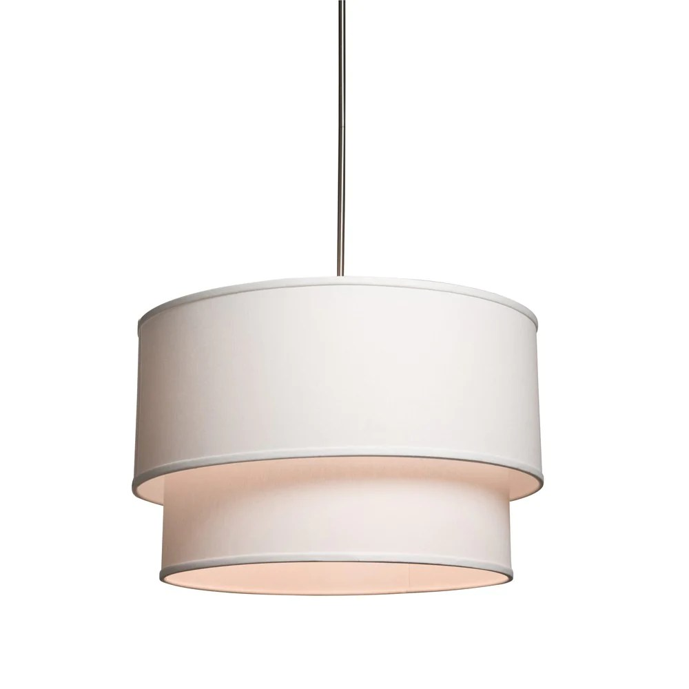 Large Drum Shade Ceiling Fixture