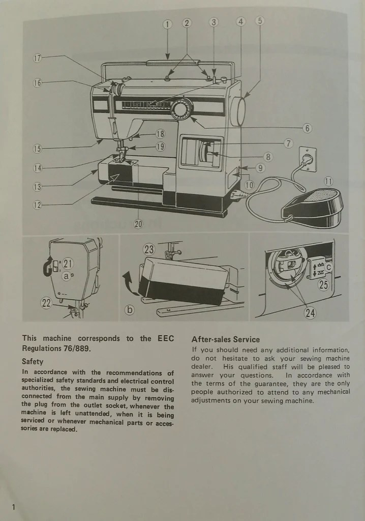 elna sewing machine parts diagram telecaster 5 way switch wiring 1400 instruction book mrsewing