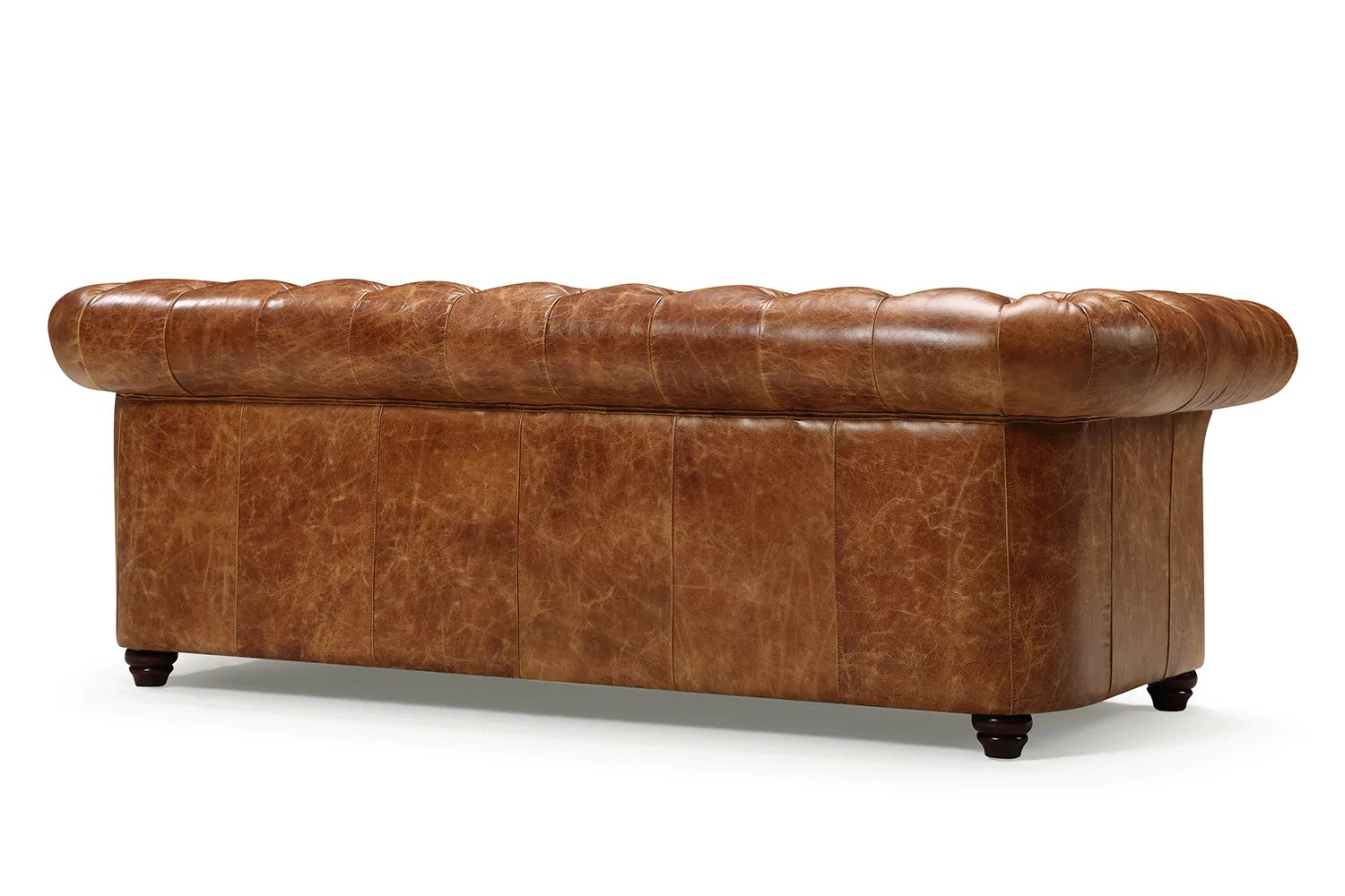 tufted leather sofa cheap higher than window sill the westminster chesterfield rose and moore back of couch