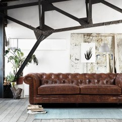 Tufted Brown Leather Sofa Camas Tugo Bogota The Kensington Chesterfield | Rose And Moore