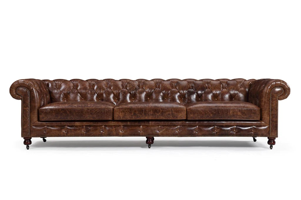 large sofa couch rust throw the kensington chesterfield rose and moore