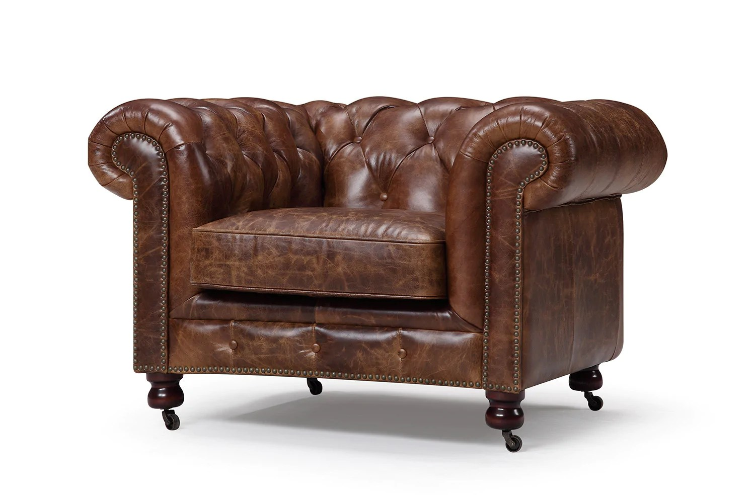 kensington leather chair spandex cover rentals the chesterfield tufted rose and moore