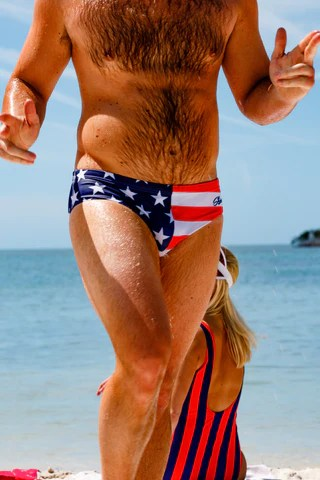 American Flag Speedo Guy : american, speedo, Men's, Funny, Outrageous, Briefs, Shinesty
