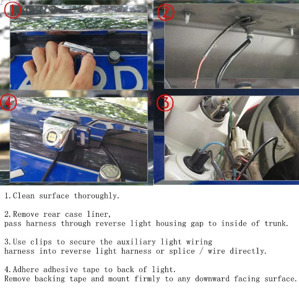 medium resolution of super bright 6 led backup camera illumination light