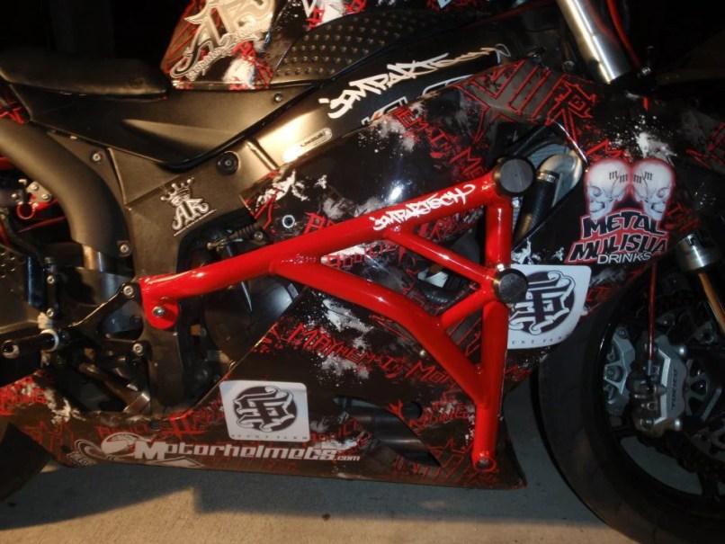 Zeusarmor Stunt Dual Slider Crash Cage For 06 07 Suzuki