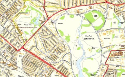 Liverpool City Centre Street Map I Love Maps