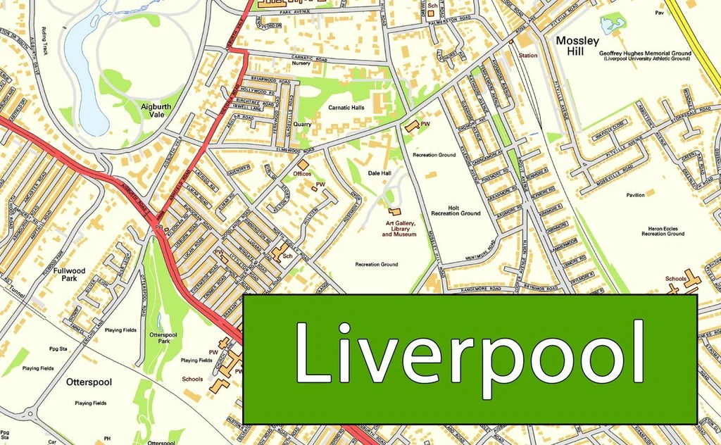 Liverpool City Centre Street Map I Love Maps