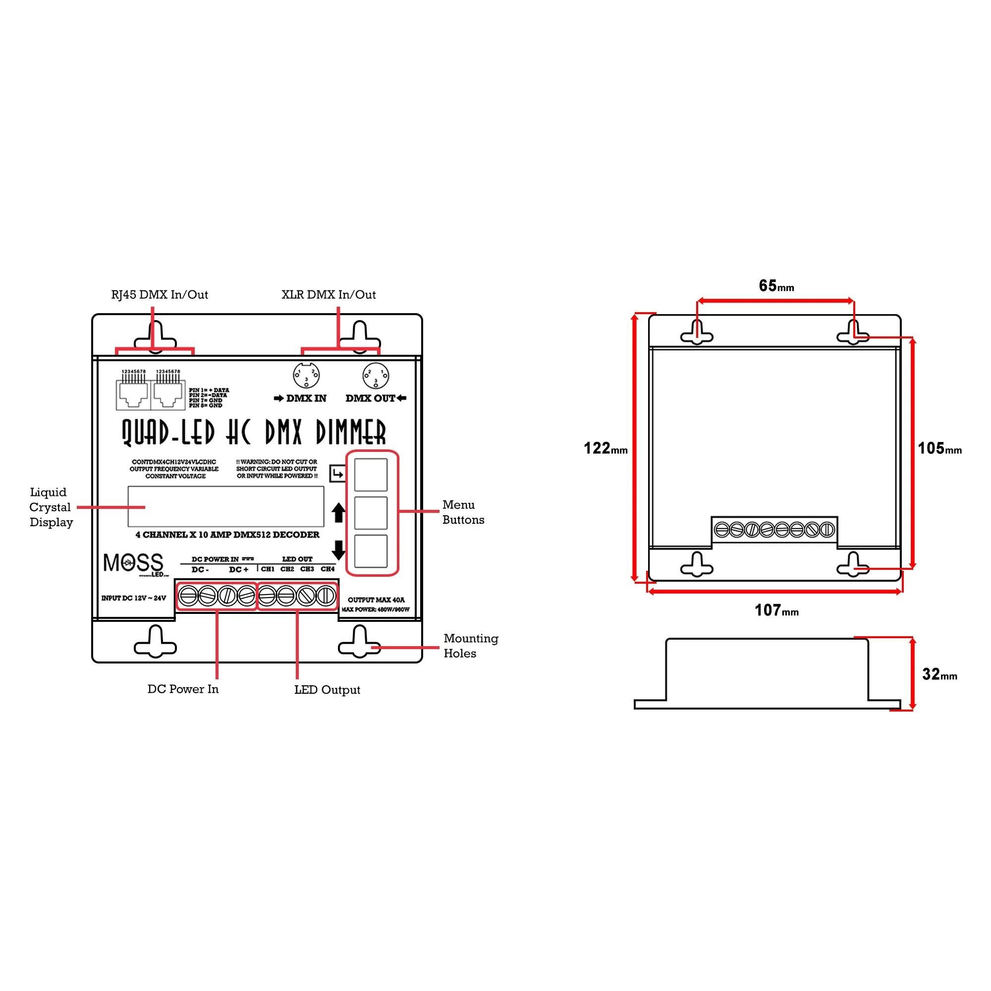 small resolution of dmx decoder wiring diagram 6 pin