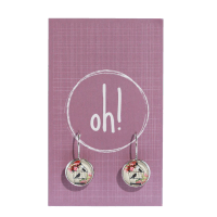 Bird Cage Earrings {red} - Oh, Buttons!
