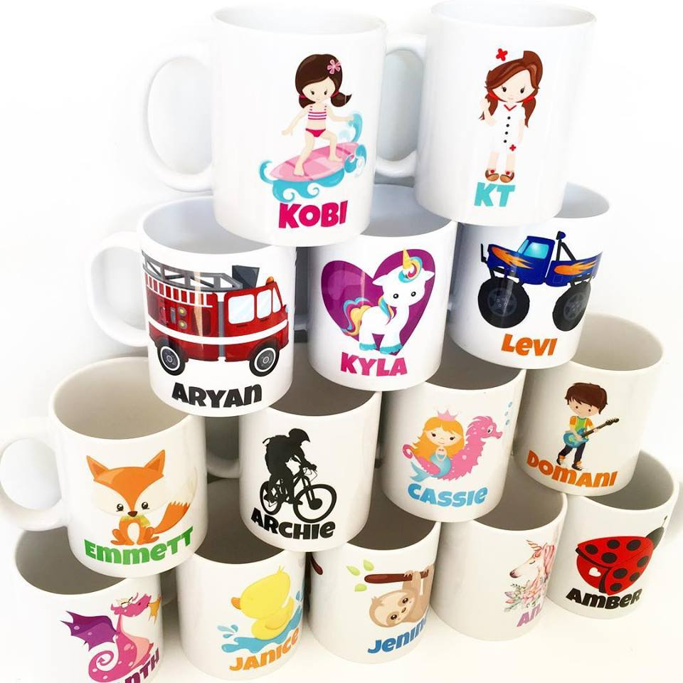 personalised mugs plastic or