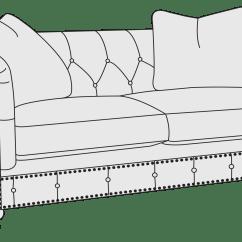 Bernhardt Riviera Large Sofa Olive Green Loveseat Furniture Luxe Home