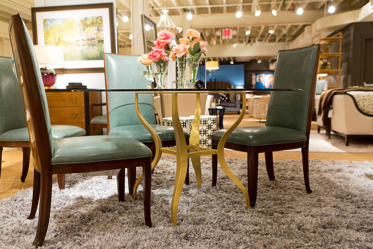 baker tufted dining chairs hanging chair dublin val side furniture luxe home philadelphia