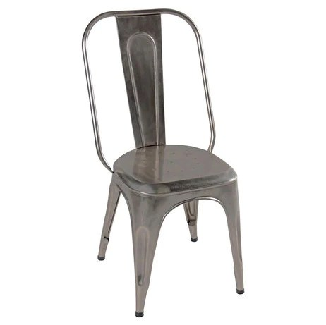 chair design iron slipper means antique nickel wrightwood furniture industrial dining