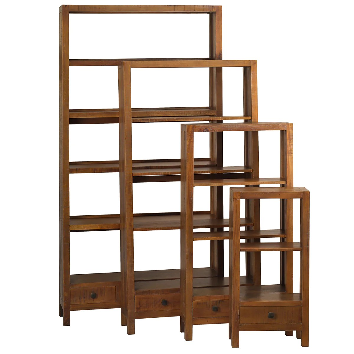 Betty Bookcase Large Rustic Gray Wash