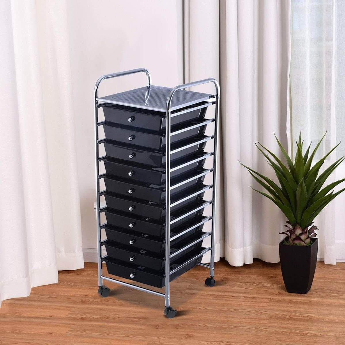 Drawer Rolling Storage Cart Organizer