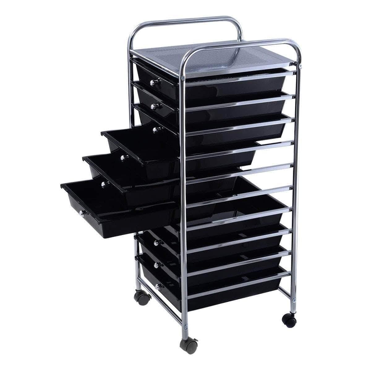 Drawer Rolling Storage Cart Organizer